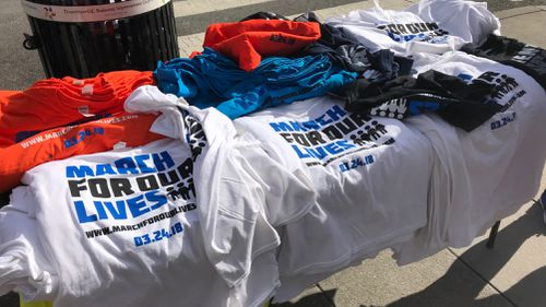 Marchers will don 'March for Our Lives' tshirts as they walk the streets. (Charles Croucher)