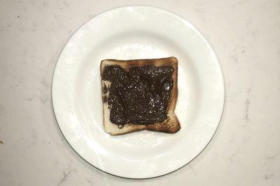 Nutella on toast: 164 calories