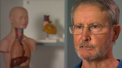 Alan Crawford, 68, received the special heart transplant after suffering from chronic heart failure.