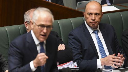 Mr Dutton was part of the coup against the then-PM but was unable to take the top job for himself.
