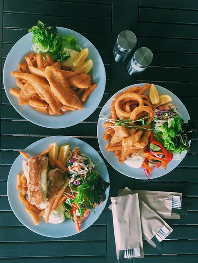 Best Fish and Chips: Pelican Rocks Café, Greenwell Point, NSW