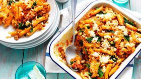 Sweet potato pasta bake recipe