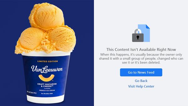 Kraft Macaroni and Cheese flavoured ice cream, Van Leeuwen