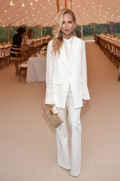 Rachel Zoe at the Net-a-porter x GOOD+ dinner at the Seinfeld's estate.