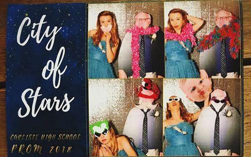 "Allison even took ""DeVito"" into the photo booth. (Supplied)"