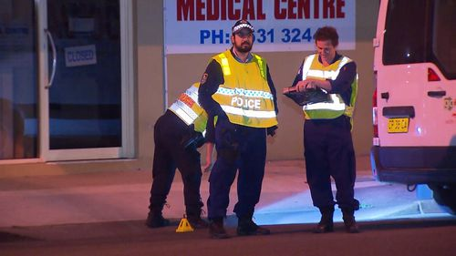 Police at the scene of the attempted carjacking in Sydney's west. Picture: 9NEWS