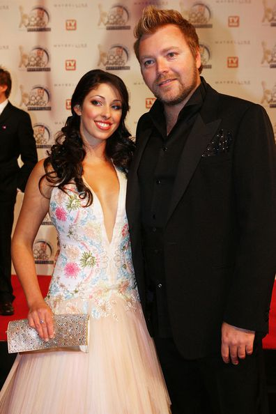 Kyle Sandilands with his ex Tamara Jaber