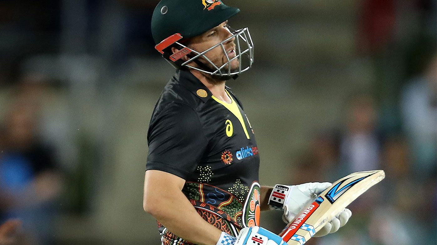 Aaron Finch set for scans after suffering apparent hip injury in T20 loss