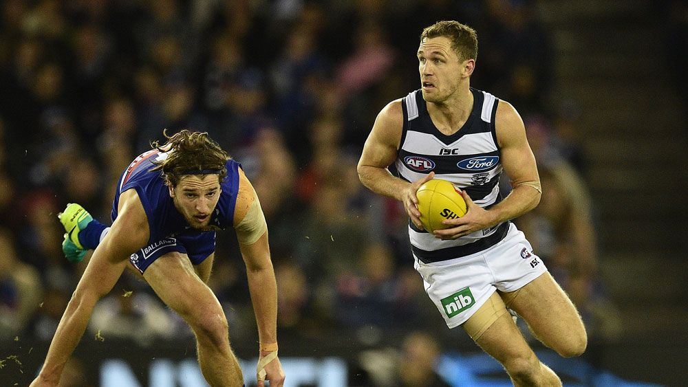 Cats cruise past Dogs to go top in AFL