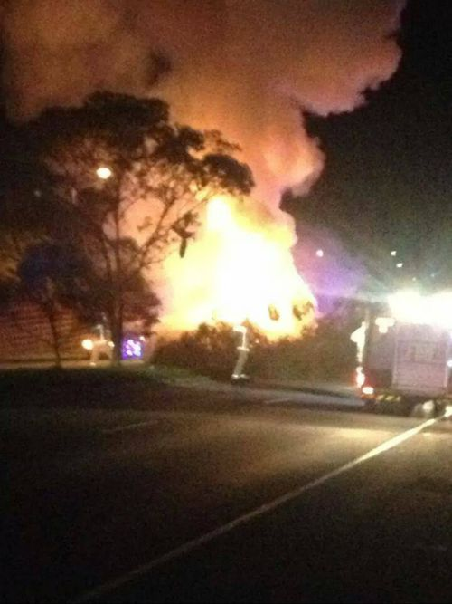 The vehicle was engulfed in flames within minutes. (Supplied)
