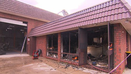 The fire caused an estimated $100,000 damage to the Goodfit Fitness Centre in Dulwich, Adelaide. (9NEWS)