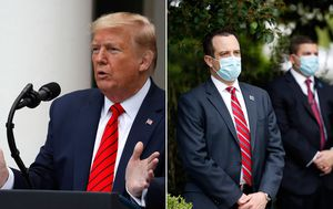 Donald Trump and Mike Pence refuse to wear face masks despite new order for staff