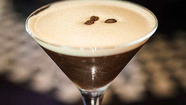 Double black martini