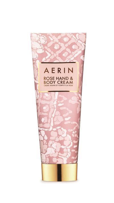 """<p><a href=""""http://www.aerin.com/Rose-Hand-and-Body-Cream/11310001,default,pd.html"""">Hand &amp; Body Cream, $65, Aerin</a><br><br><br></p>"""