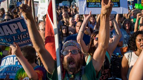 Fervent protests were held across the United States. (AFP)