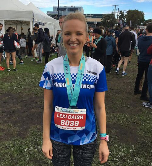 Alexis Daish will run the Portsea half marathon. (Image: Supplied)