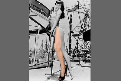 Old-school pin-up girl, <b>Betty Page</b>, gets leg replacement surgery...
