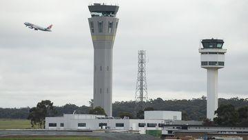 A Jetstar flight takes offat Tullamarine Airport on July 07, 2020 in Melbourne, Australia.