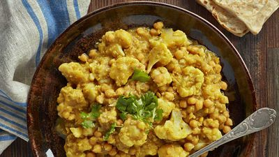 "Recipe: <a href=""http://kitchen.nine.com.au/2017/01/20/13/15/cauliflower-and-chick-pea-curry"" target=""_top"">Cauliflower and chickpea curry</a>"