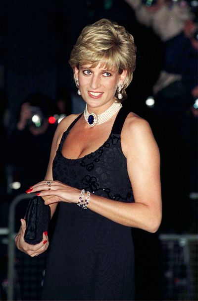 Diana, Princess of Wales Of Wales in Jacques Azagury at a Gala Evening In Aid Of Cancer Research At Bridgewater House in London