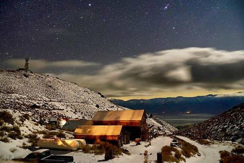 Most nights at Cerro Gordo the stars and moon are so bright you can walk from building to building without a flashlight, Mr Underwood said.