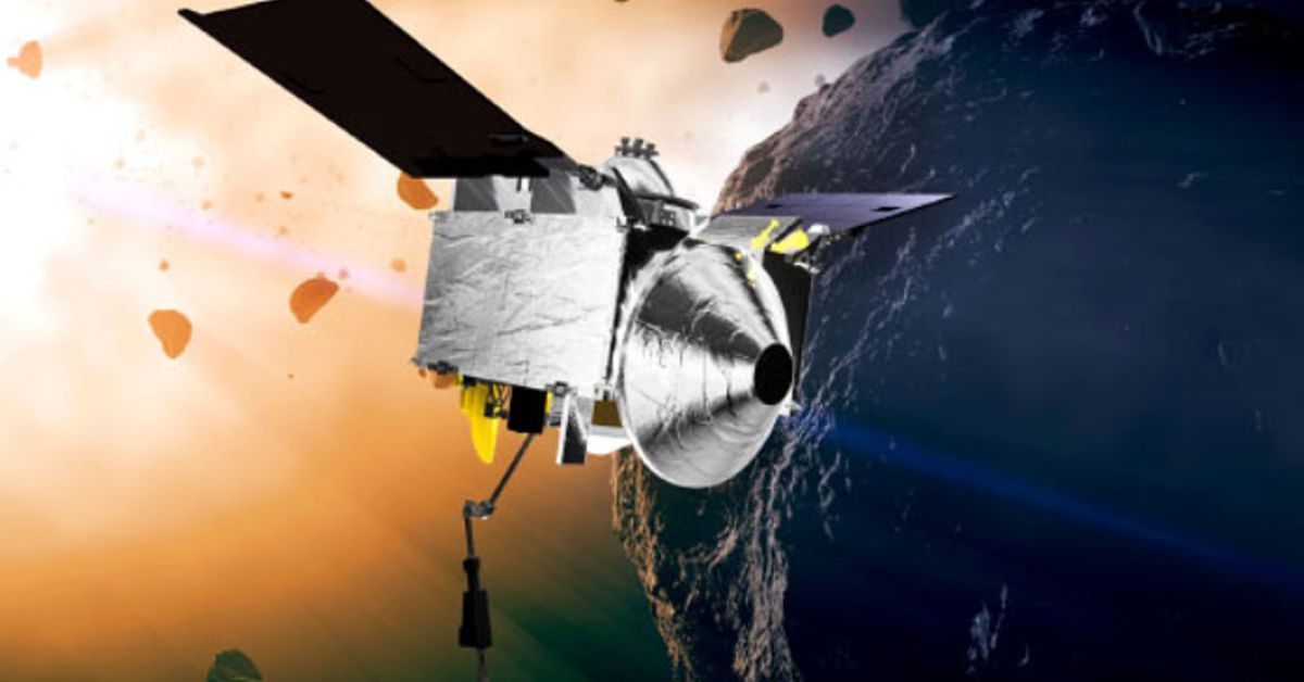 NASA spacecraft safely seals up asteroid sample to return to Earth – 9News