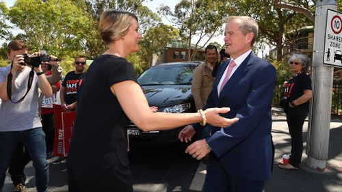 Bill Shorten campaigning with Labor candidate for Bennelong Kristina Keneally (Image: AAP)