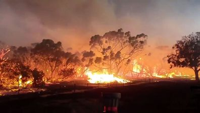 Kangaroo Island in South Australia is engulfed in flames.