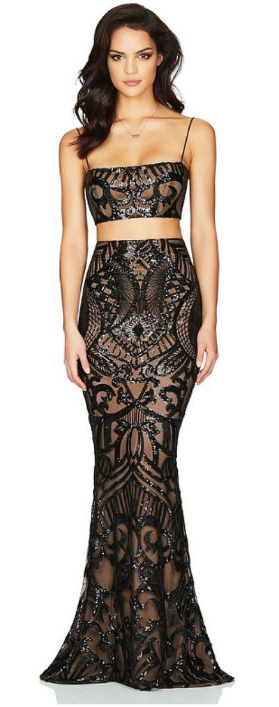 "<p><a href=""https://www.dressforanight.com.au/collections/all/products/nookie-mon-cheri-two-piece-gown-black-rrp-458"">NOOKIE Mon Cheri Two Piece Gown&nbsp;</a></p> <p>Rental $179</p> <p>Retail $458</p>"