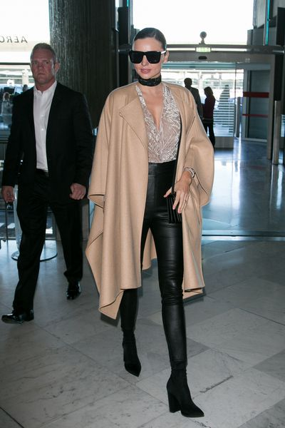 Supermodel Miranda Kerr is the expert at airport gorgeousness.