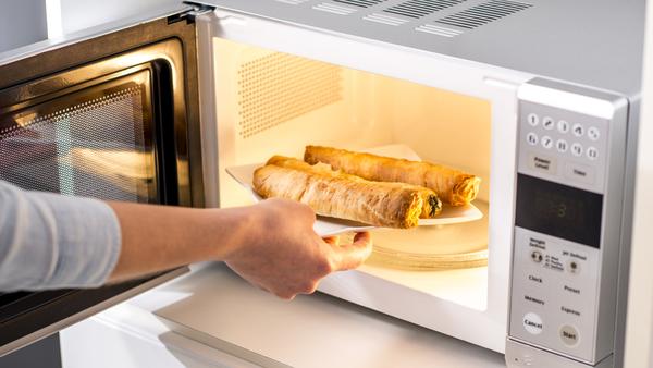 Person microwaving food