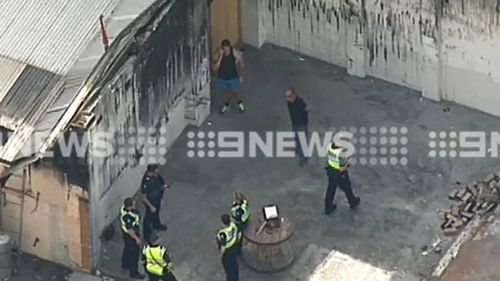 Firefighters were called to the explosion around 12.30pm. (9NEWS)