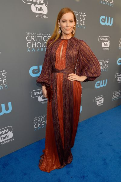 Actor Leslie Mann at the 2018 Critics Choice Awards