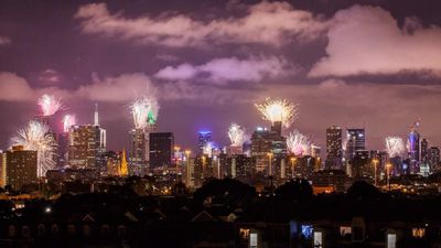 Melbourne's CBD enjoyed a colourful fireworks spectacular (City of Melbourne).