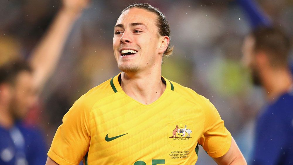 Socceroos midfielder Jackson Irvine. (Getty Images)