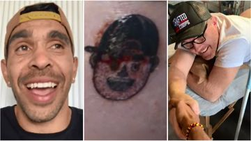 Adelaide Crows great Eddie Betts was laughing after his brother-in-law Tom lost a