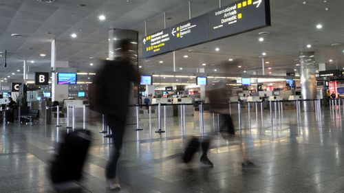 Melbourne airport. (AAP file image)
