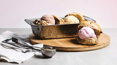 "In a fun take on the ice cream sandwich, <a href=""http://gelatissimo.com.au/"" target=""_top"" draggable=""false""><strong>Gelatissimo</strong></a> had added rhot cross buns to their menu for Easter. Their buns are served warm, with a scoop of your choice of gelato inside, creating a unique flavour combination.<br> <br> In store now - RRP $5 per serve&nbsp;"
