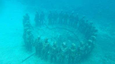 Sculptures sous-marines de Grenade