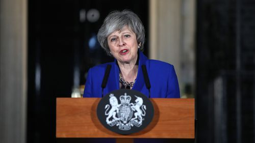 "Ms May said she would hold talks ""in a constructive spirit"" with leaders of opposition parties and other lawmakers in a bid to find a way forward for Britain's EU exit."