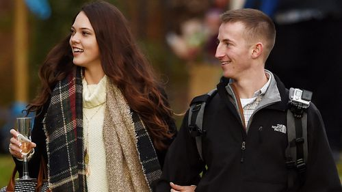 Michael Metz was inspired by Christmas and the royal engagement. (Sam Russell/PA Wire)
