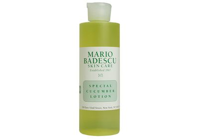 """<a href=""""http://mecca.com.au/mario-badescu/special-cucumber-lotion/I-004650.html#q=cucumber&amp;start=1"""" target=""""_blank"""">Special Cucumber Lotion, $23, Mario Badescu</a>"""