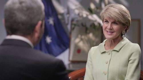 Julie Bishop says politicians from overseas have been calling her for an explanation of what's going on in Australia.