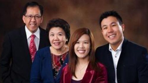 A supplied image obtained Saturday, Oct. 3, 2015 shows Parramatta shooting victim Curtis Cheng (left) with family.