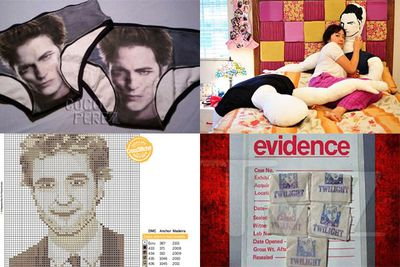 <i>Twilight</i> hysteria saw all kinds of creative unauthorised merchandise for sale on the internet: from Robert Pattinson underwear to full sized body pillows, cross stitch patterns, and even <i>Twilight</i> branded heroin!