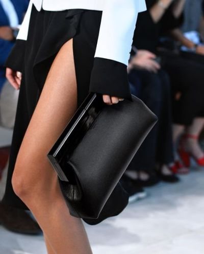 Not so basic black. Michael Kors ditches the bling to make a bag with a covet factor through the roof.