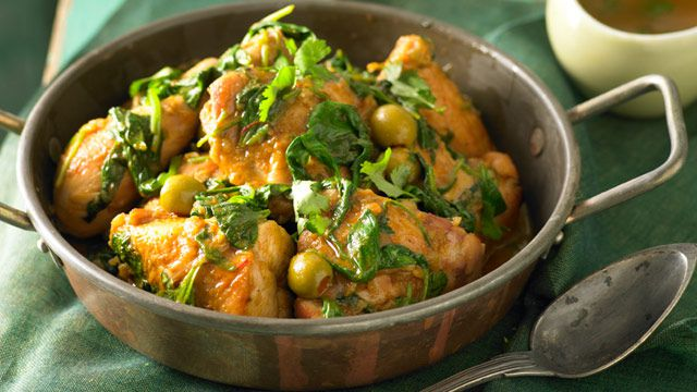 Chicken tagine with olives