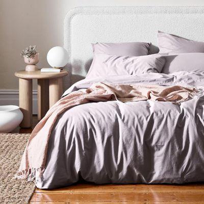 Halo Organic Cotton Quilt Cover (Dusk) — Aura Home
