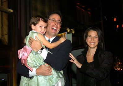 Sascha Seinfeld, Jerry Seinfeld and Jessica Seinfeld in 2004.