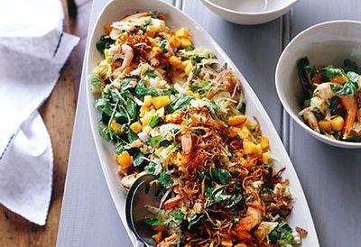 King prawn and papaya salad
